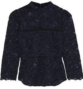 Marissa Webb Georgie Crochet-trimmed Corded Lace Top