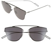 Christian Dior Men's 57Mm Semi Rimless Sunglasses - Dark Ruthenium