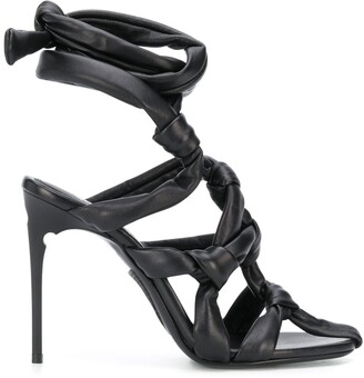 Off-White Knotted Strappy Sandals