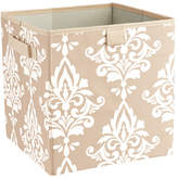 ClosetMaid Premium 2 Handle Storage Bin in Damask French Vanilla