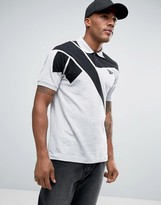 Reebok Retro Polo Shirt In Grey Bk6579