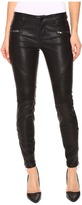 Blank NYC Vegan Leather Moto Skinny Jeans in Daddy Soda