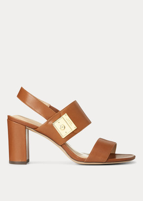Ralph Lauren Braidan Leather Sandal
