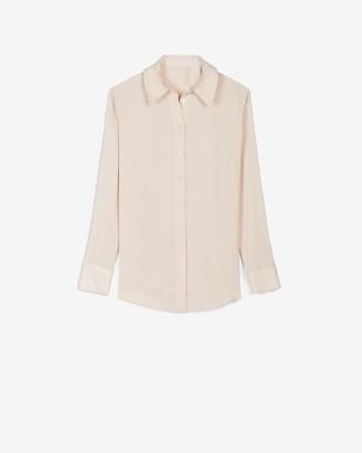 Express Satin Cuff Tunic Shirt