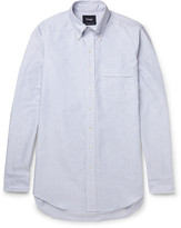 Drakes Drake's Slim-Fit Striped Cotton Oxford Shirt