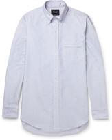 Drake's - Slim-fit Striped Cotton Oxford Shirt