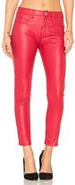 Weslin + Grant Weslin + Grant Vegan Leather High Rise Zip Skinny in Red