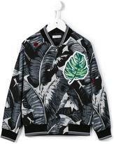 Dolce & Gabbana 'Banana Leaf' bomber jacket - kids - Nylon/Viscose - 4 yrs