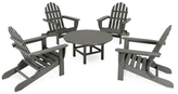 Polywood Classic Folding Adirondack Conversation Group Set (5 PC)