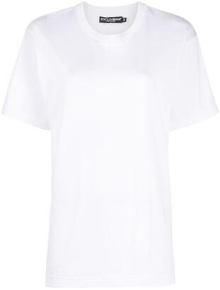 Dolce & Gabbana crochet-logo patch T-shirt