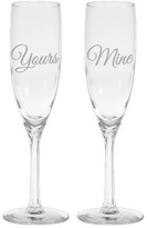 Culver Yours & Mine Flute Glasses - Set of 2