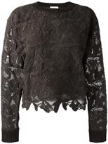 See by Chloe guipure jumper - women - Silk/Cotton - M