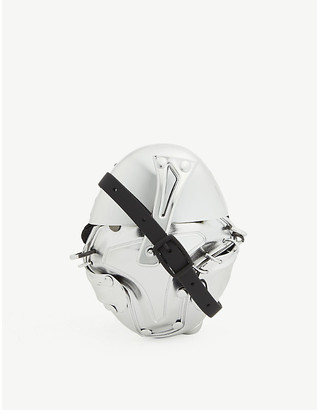 Selfridges Metal effect rubberised cross-body wallet