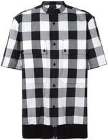 Helmut Lang shortsleeved checked shirt