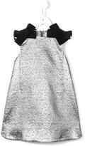 Simonetta lamé jacquard a-line dress