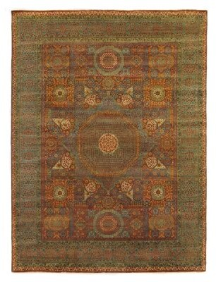 """Exquisite Rugs Mamluk Oriental Hand-Knotted Wool RustGreen Area Rug Rug Size: Runner 2'6"""" x 10'"""