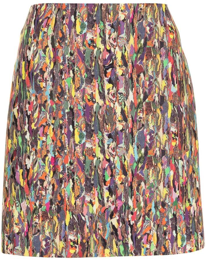 Dries Van Noten Pre-Owned Abstract Print Mini Skirt