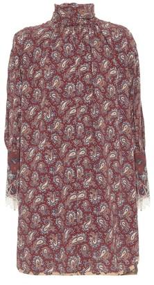 Chloé High-neck paisley silk minidress