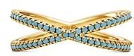 Michael Kors Custom 14K Gold-Plated Sterling Silver Pave Nesting Ring Insert