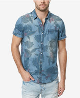 Buffalo David Bitton Men's Saoriden Tropical-Print Denim Cotton Shirt