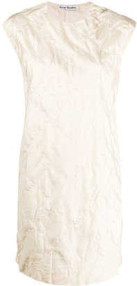 Acne Studios Quilted Silk Shift Dress