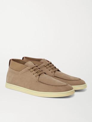Loro Piana Soho Walk Nubuck High-Top Sneakers