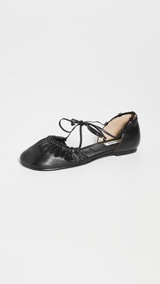 Reike Nen Open Sided Toe Shirring Ballet Flats