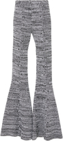 Salvatore Ferragamo Stitch Knit Flared Trousers
