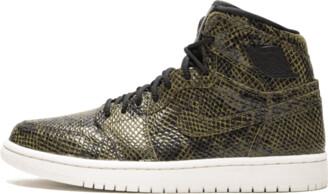 Jordan Womens Air 1 Retro Hi Pre 'Snakeskin' Shoes - Size 6W