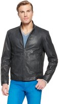 HUGO BOSS 'Alexo' | Stand Collar Leather Jacket by BOSS