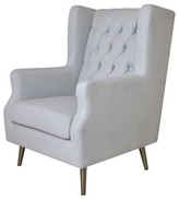 Thomas Laboratories Wingback Chair Pasargad Upholstery Color: Beige
