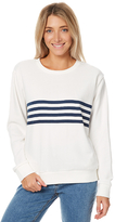 Swell Clean Navy Stripe Crew White
