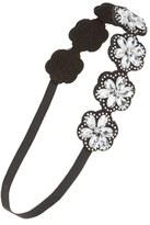 Capelli of New York Crystal Flowers Head Wrap (Girls)