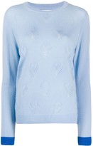 Chinti and Parker Pointelle Heart cashmere jumper