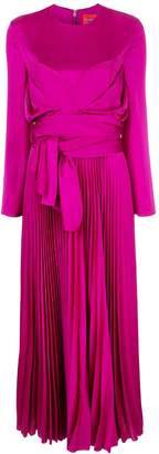 SOLACE London pleated maxi dress