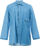 Yohji Yamamoto layer-effect work shirt - men - Cotton - 2