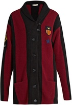 Stella McCartney Badge-appliqué wool-blend cardigan