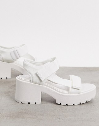Vagabond Dioon chunky sporty heeled sandals in white