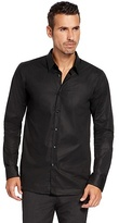 HUGO BOSS Elisha Slim Fit, Point Collar Stretch Cotton Dress Shirt - Black
