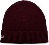 Lacoste Maroon Knitted Beanie