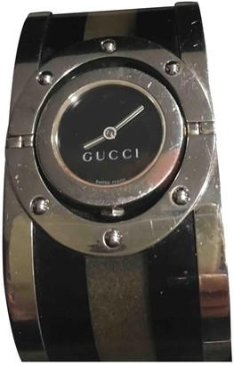 Gucci Anthracite Steel Watches