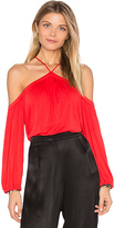Ella Moss Bella Cold Shoulder Top in Red. - size L (also in )
