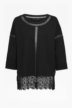 French Connection Noland Jersey Round Neck Top