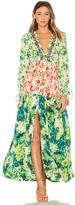Rococo Sand Romantic Floral Maxi Dress