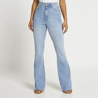 River Island Womens Blue high waisted bum sculpt flared jeans