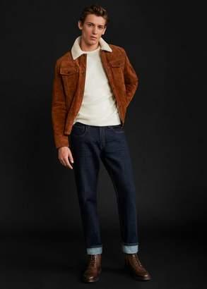 MANGO MAN - Stitching leather boots brown - 7 - Men