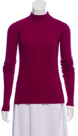 Mock Neck High-Low Sweater