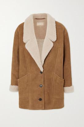Nili Lotan Noelle Shearling Coat - Camel