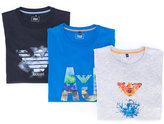 Armani Junior teen printed T-shirt set - kids - Cotton/Spandex/Elastane - 14 yrs