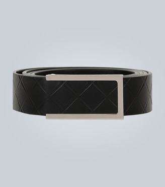 Bottega Veneta Push-stud Intarsio leather belt